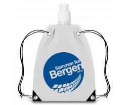 Sammenleggbar drikkeflaske som ryggsekk